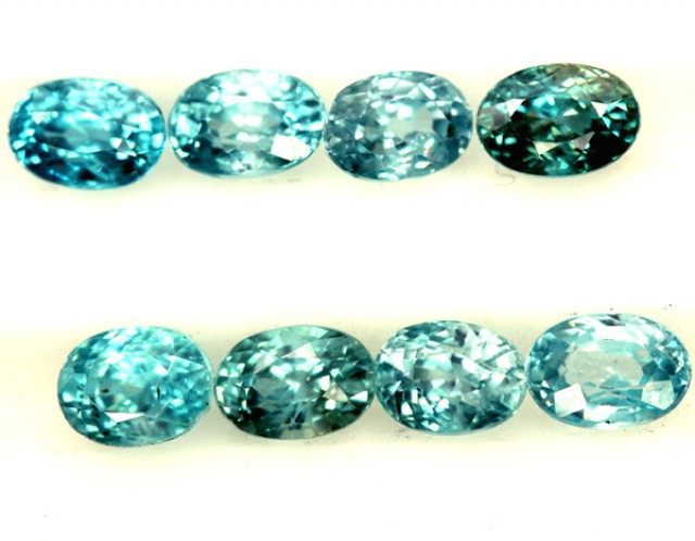 BLUE ZIRCON FACETED STONE (8 PCS) 9 CTS  PG-1392