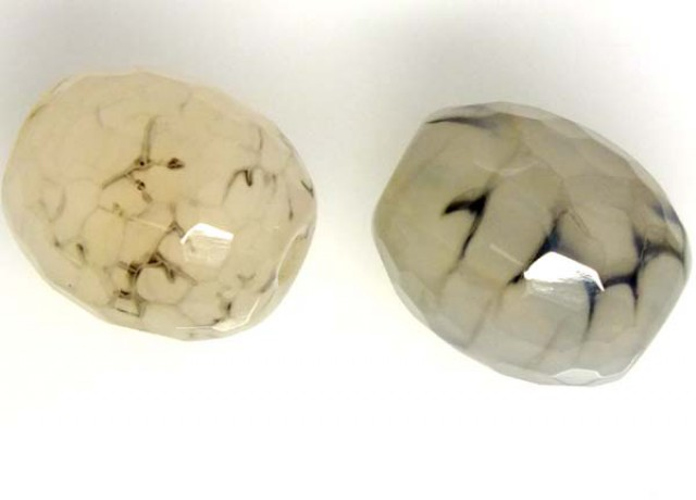 WEB AGATE DRILLED NATURAL PC 2 PCS 39 CTS  NP-1543