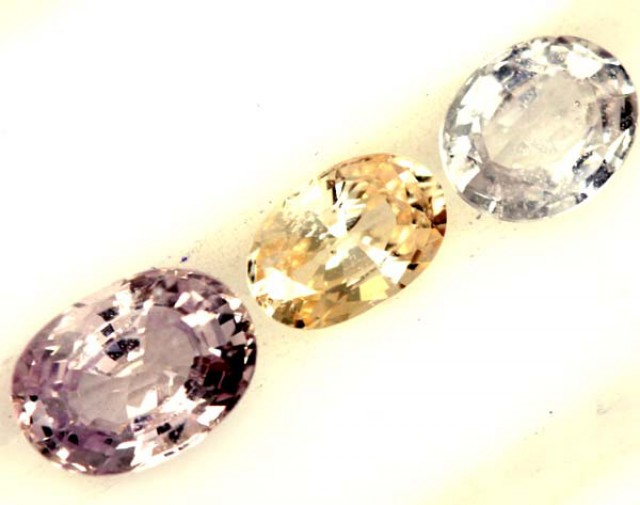 MULTI COLOURED2 CTS  SAPPHIRE FACETED(3PCS)   PG-1429