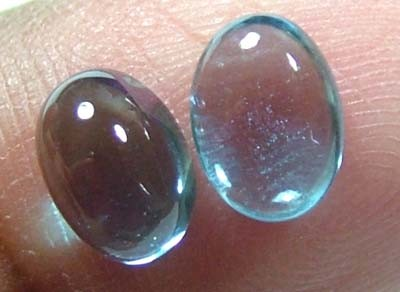 4.4 CTS BLUE TOPAZ NATURAL CABS (2 PAIR) CG-1422