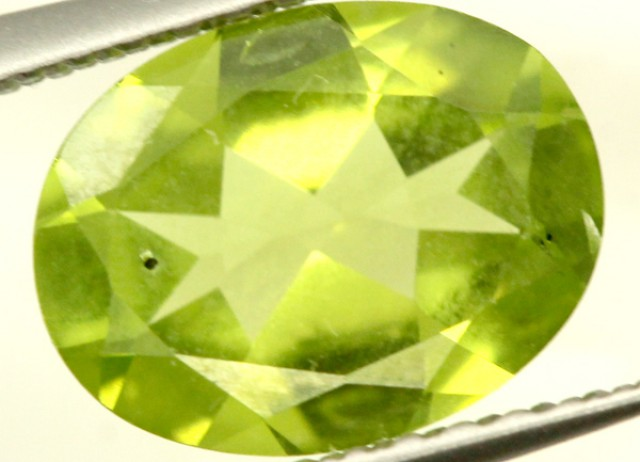 PERIDOT FACETED STONE 1.60 CTS PG-862