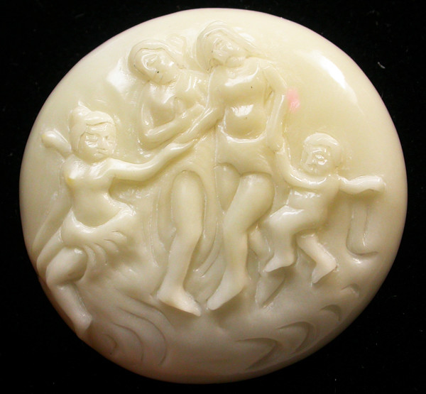 27.55 CTS IVORY FROM PALM  QUALITY  CARVING [MGW407]