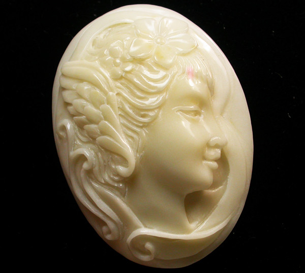 41.00 CTS IVORY FROM PALM  QUALITY  CARVING [MGW409]