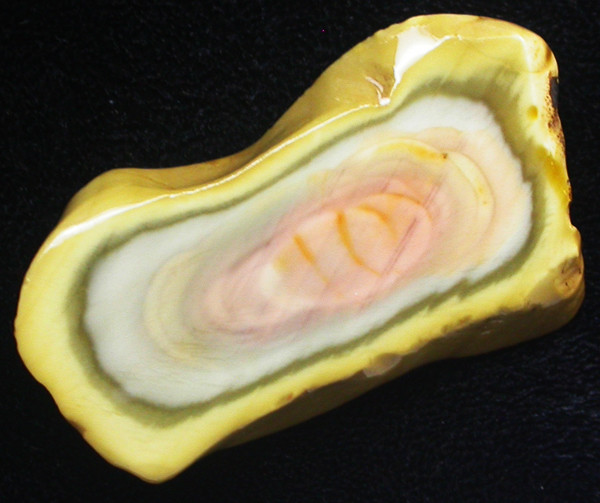 43.75 CTS IMPERIAL JASPER  SLICE FROM MEXICO [F3453]
