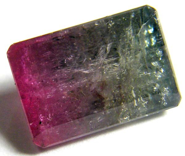 7.38CTS  BI COLOUR TOURMALINE FACETED STONE   PG-1842