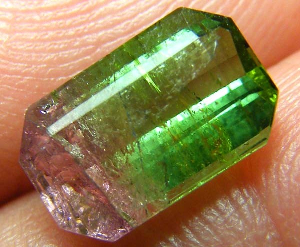 1.72CTS   WATERMELON TOURMALINE FACETED STONE  PG-1846