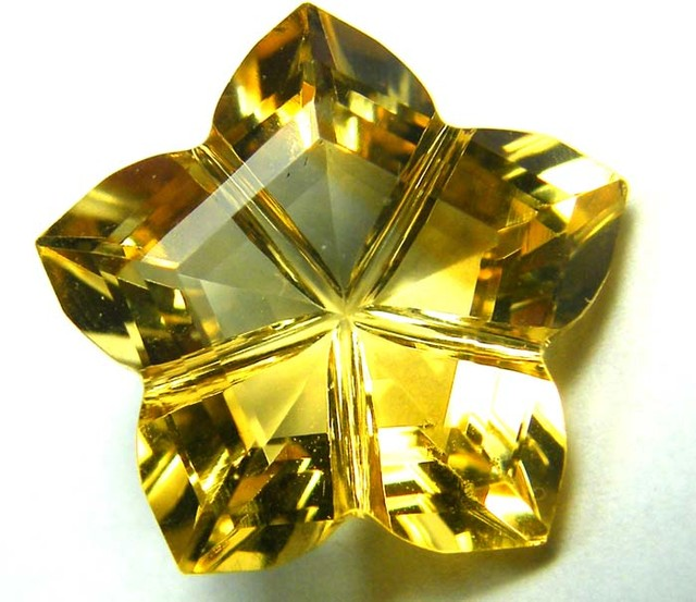 8 CTS   CITRINE FACETED FLOWER STONE PG-1848