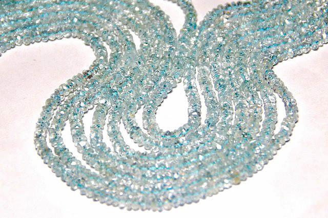 """*NEW  STOCK* AQMAMARINE 3mm Israeli beads 14"""""""