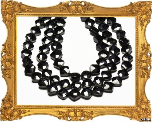8mm AAA Black Spinel Diamond polished beads 8