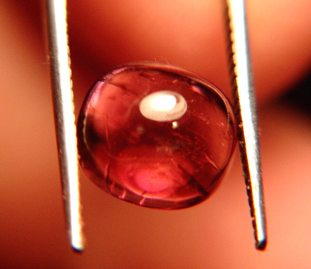Gorgeous and Unusual Tourmaline Cabochon 3.98 Carats