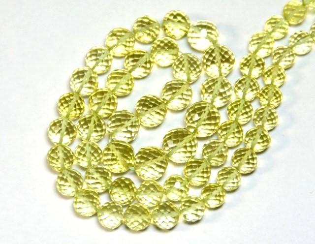 LEMON QUARTZ  round faceted beads 5-8mm