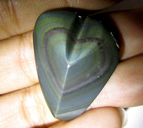 MEXICAN CHATOYANT OBSIDIAN  34.16 CARATS  RT 631