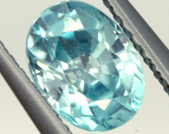 BLUE ZIRCON FACETED STONE 1.25 CTS PG-1031