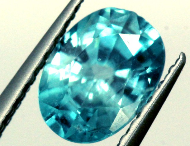 BLUE ZIRCON FACETED STONE 1.05 CTS PG-911