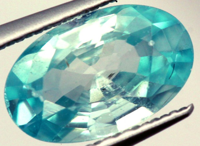 BLUE ZIRCON FACETED STONE 1.35 CTS PG-883