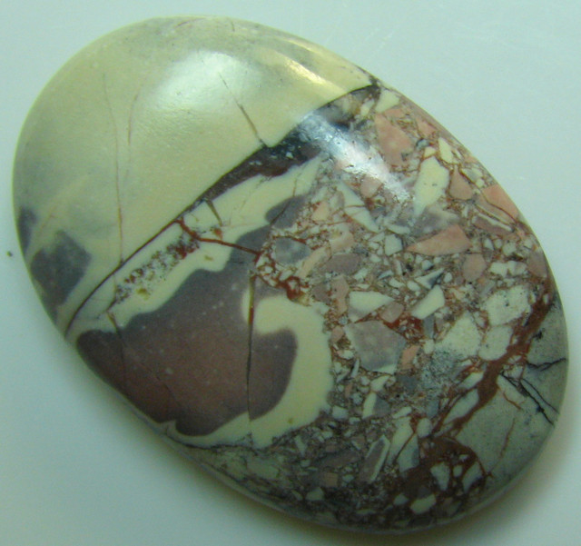 CABOCHON PORCELAIN JASPER FROM MEXICO 28.80 CTS