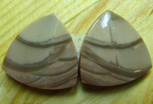 WILLOW CREEK JASPER PAIR  23.90 CTS