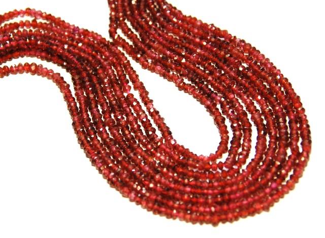 *NEW ARRIVAL*  MADRAS pink red GARNET 2.5-3mm 14