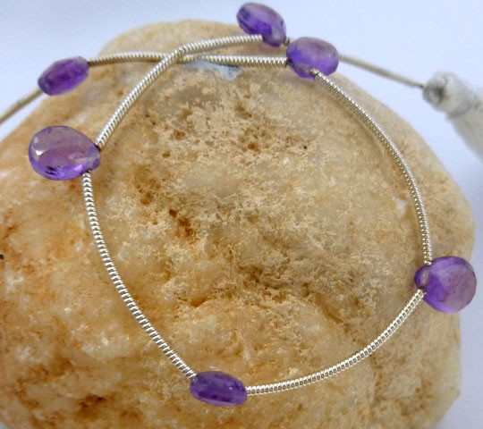 FREE S /Parcel 6 Briolite Amethyst6 stones tcw 17.75 Rt1013
