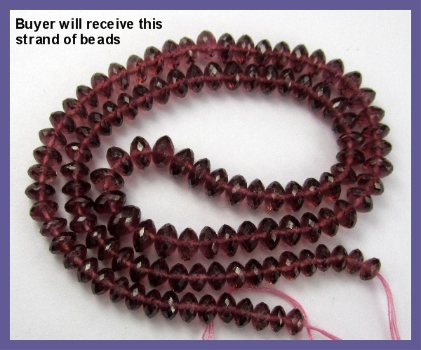 MAGNIFICENT AAA+ 4.5-6.5MM RHODOLITE GARNET FACETED ROUNDELS