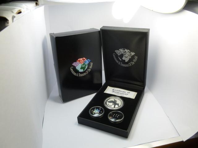 TREASURE SERIES DIAMONDS,OPALS,SILVER COIN  KM 04