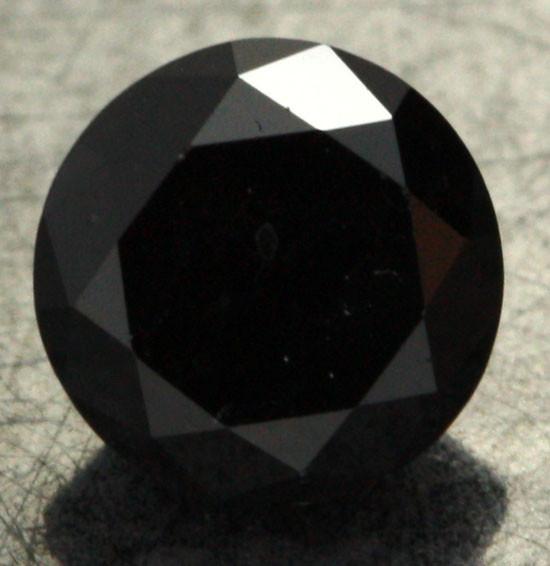 0.83 CTS - CERTIFIED - STUNNING BLACK DIAMOND [BP35348]