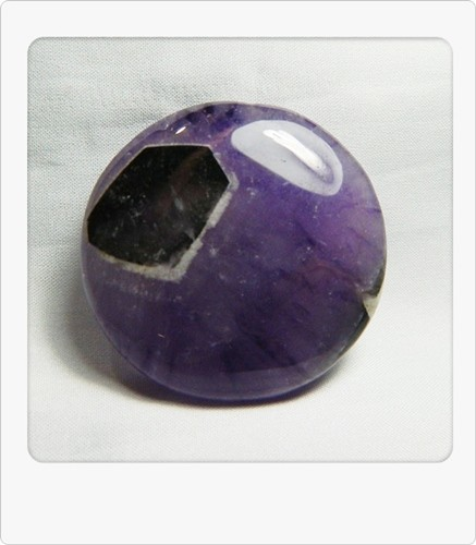120.60cts Unique African Amethyst Cab Stone S79