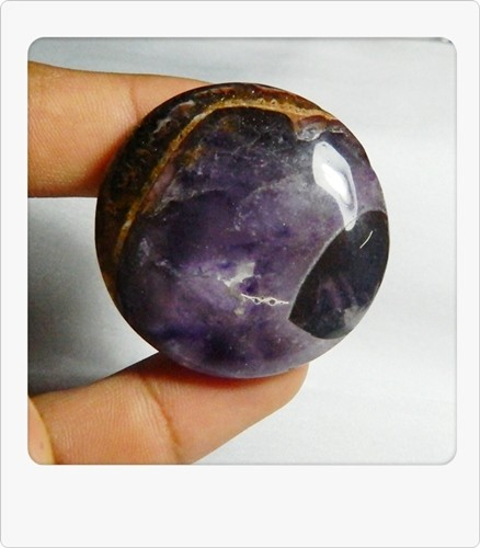 132.50cts Unique African Amethyst Cab Stone S83