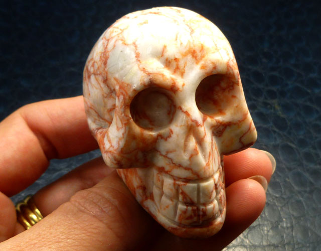 VEINED JASPER    GEMSTONE SKULL 627.55 CTS RT 1843
