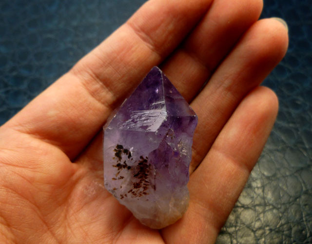 171 CTS  BRAZIL TERMINATED  AMETHYST POINTS   RT 2095