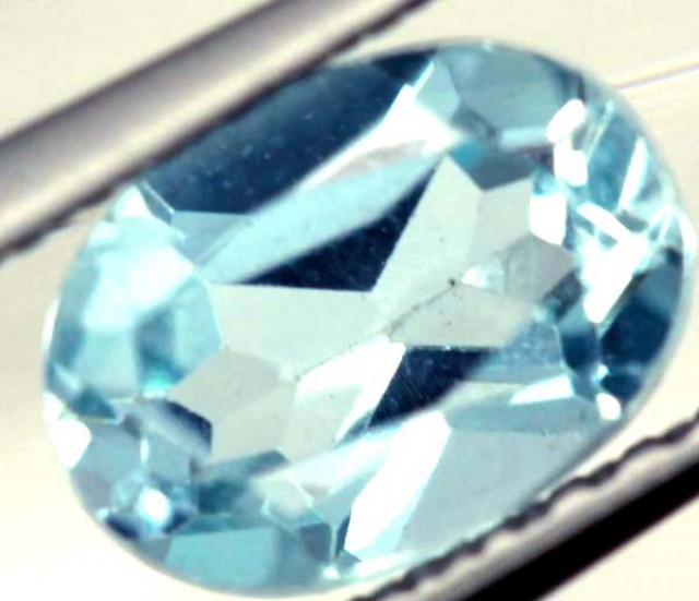 BLUE TOPAZ NATURAL FACETED 1 CTS  PG-1077