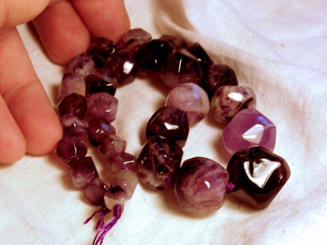 582 Tcw. Amethyst Strand - Highly Polished, Unique Beauty