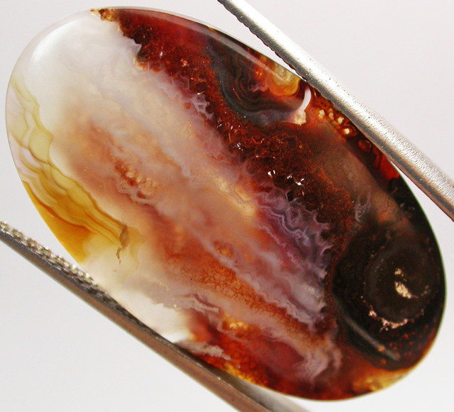 21.55 CTS FIRE AGATE POLISHED   -GREAT PATTERN  [MGW2032]
