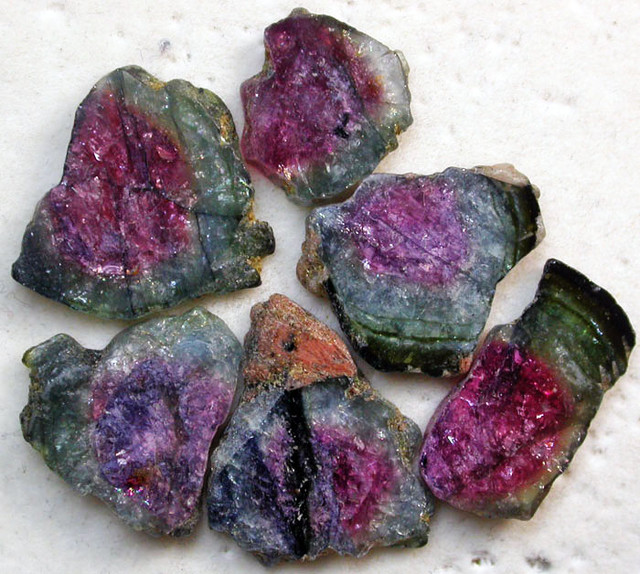 28.00 CTS TOURMALINE SLICED PARCEL FROM BURMA  [MGW2181]