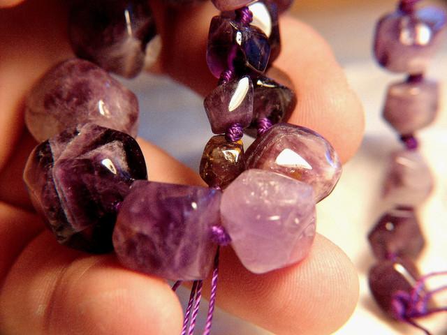419 Tcw. Amethyst Tumble Stone Strand - Polished Beauty