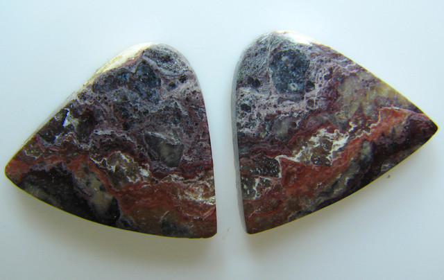 BANDED PATTERN JASPER PAIR 16.80 CTS