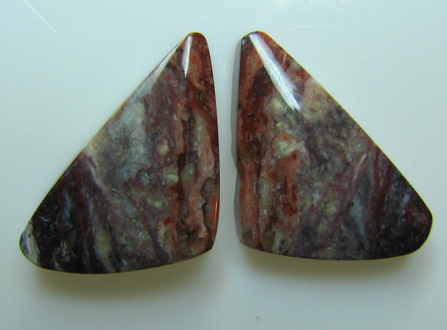 BANDED PATTERN JASPER PAIR  16.50 CTS