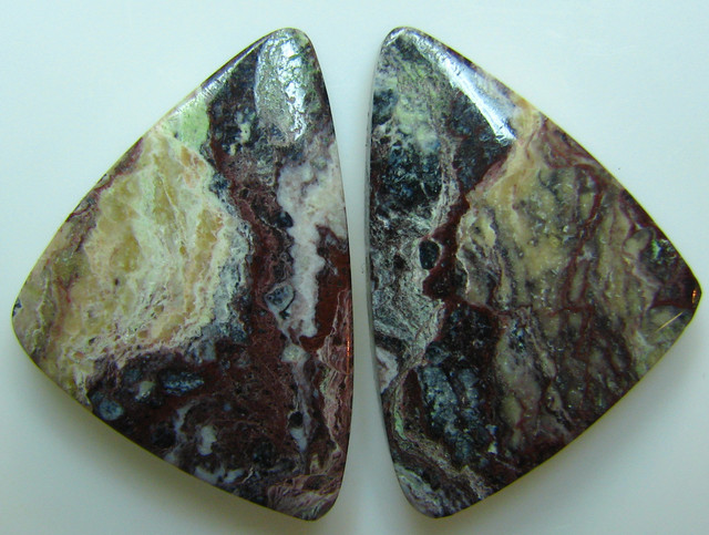 BANDED PATTERN JASPER PAIR 22.80 CTS