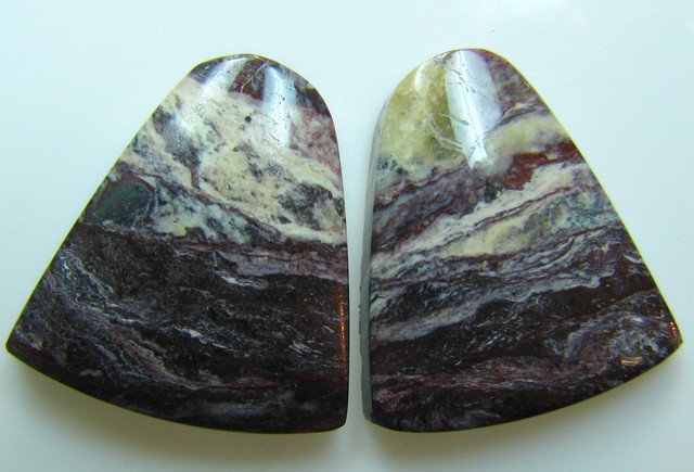 BANDED PATTERN JASPER PAIR  27.40 CTS