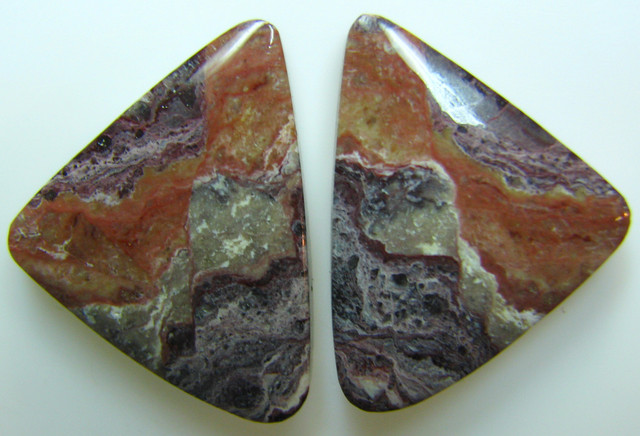 BANDED PATTERN JASPER PAIR 25.85 CTS