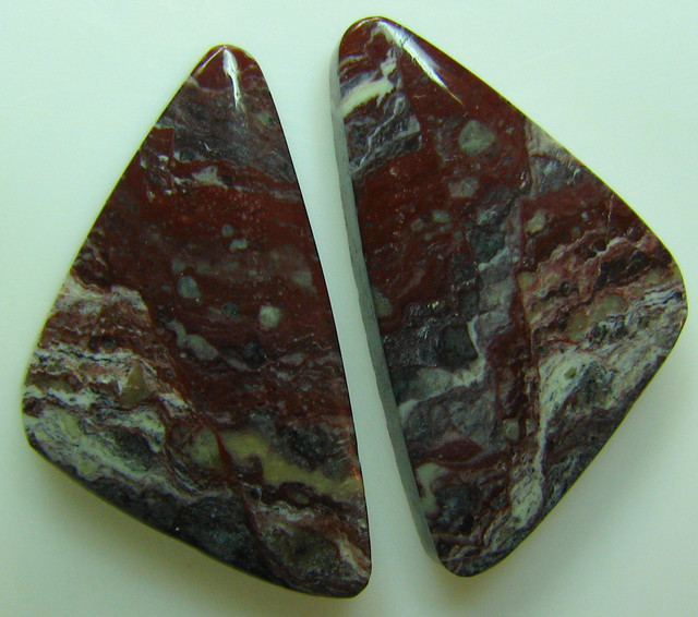 BANDED PATTERN JASPER PAIR 15.60 CTS
