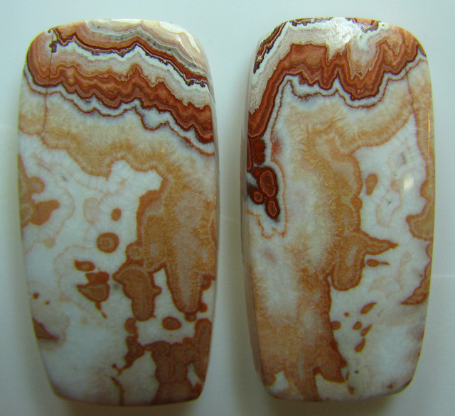 ROSETTA JASPER PAIR OF STONES GREAT PATTERNS 57.50 CTS