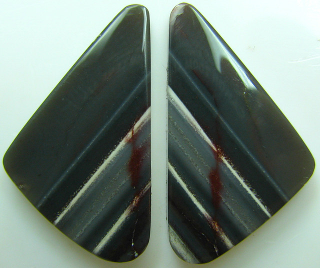 ZEBRA HICKORYITE PATTERN PAIR OF STONES 24.75 CTS