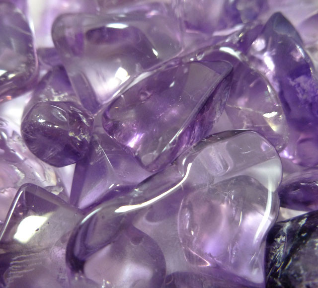 522CTS PARCEL TUBLED CLEAN AMETHYST STONES MS 916