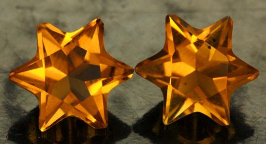 3.80 CTS FANTA ORANGE CITRINE STAR [S7473]