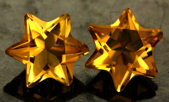 3.44 CTS FANTA ORANGE CITRINE STAR [S7480]