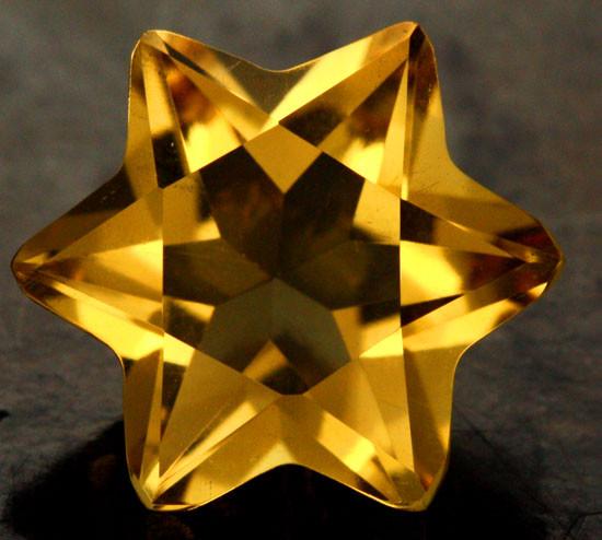 4.75 CTS FANTA ORANGE CITRINE STAR [S7491]