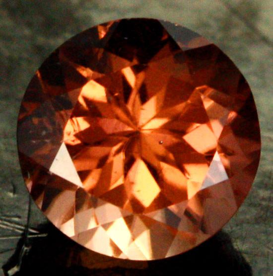 1.17 CTS CHOCOLATE ZIRCON-DIAMOND CUT [S7635]