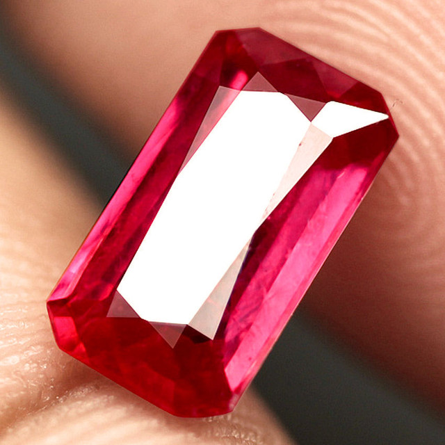 1.92 Carat Fiery Pinkish Red Ruby - Superb