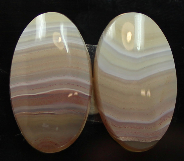 22.00 CTS RICO VALLEY AGATE PAIR - BEAUTIFUL SET